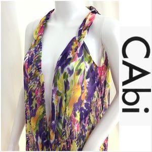 CAbi Sheer Floral Top